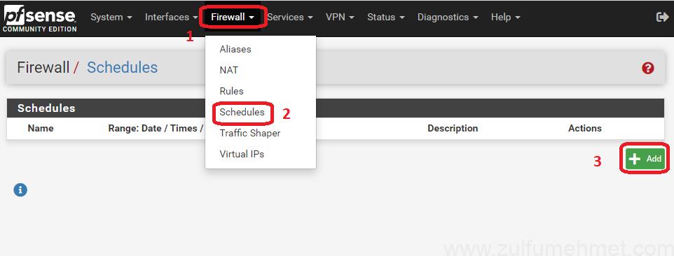 pfsense_zamanlı_internet_kapatma